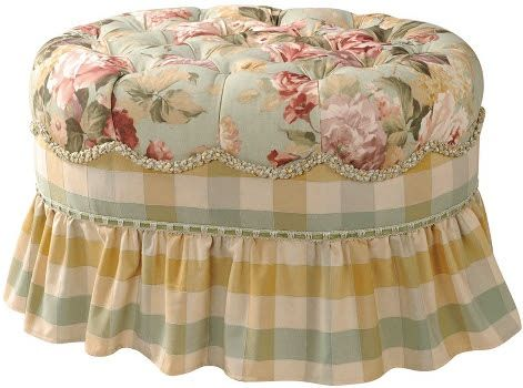Sedie Decorate Fai Da Te : Jennifer taylor chesapeake collection oval ottoman stool chair x4s2