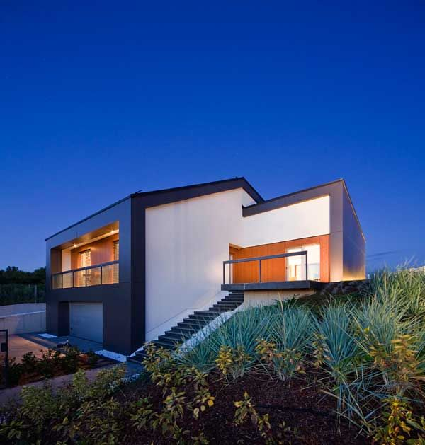 Houses · modern villa surrounded by hungarian vineyards