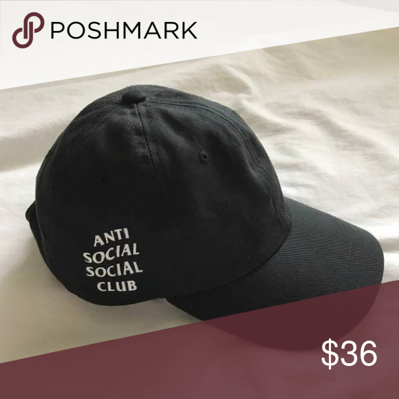 ab888fe9d2e Anti Social Social Club Weird Hat Brand new ASSC Weird Cap in black Ready  to ship the same day next day Anti Social Social Club Accessories Hats
