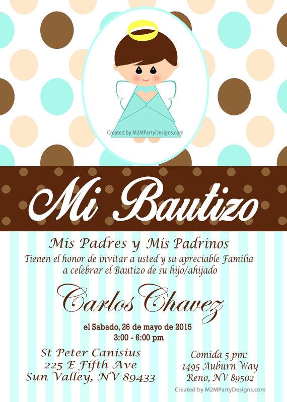 Baptism Invitation Custom Printable Print at by M2MPartyDesigns