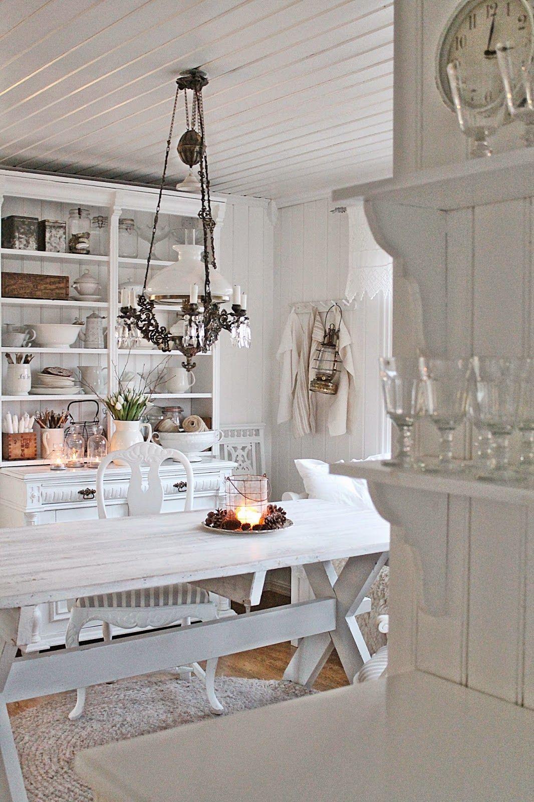 Via Vibeke Design White Decor Shabby Chic Farmhouse