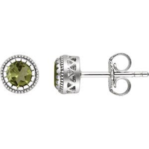 "14kt White Gold Peridot ""August"" Birthstone Earrings...(651610:128:P).! Price: $269.99 #diamonds #gemstone #birthstone #fashion #jewelry #love #gift"