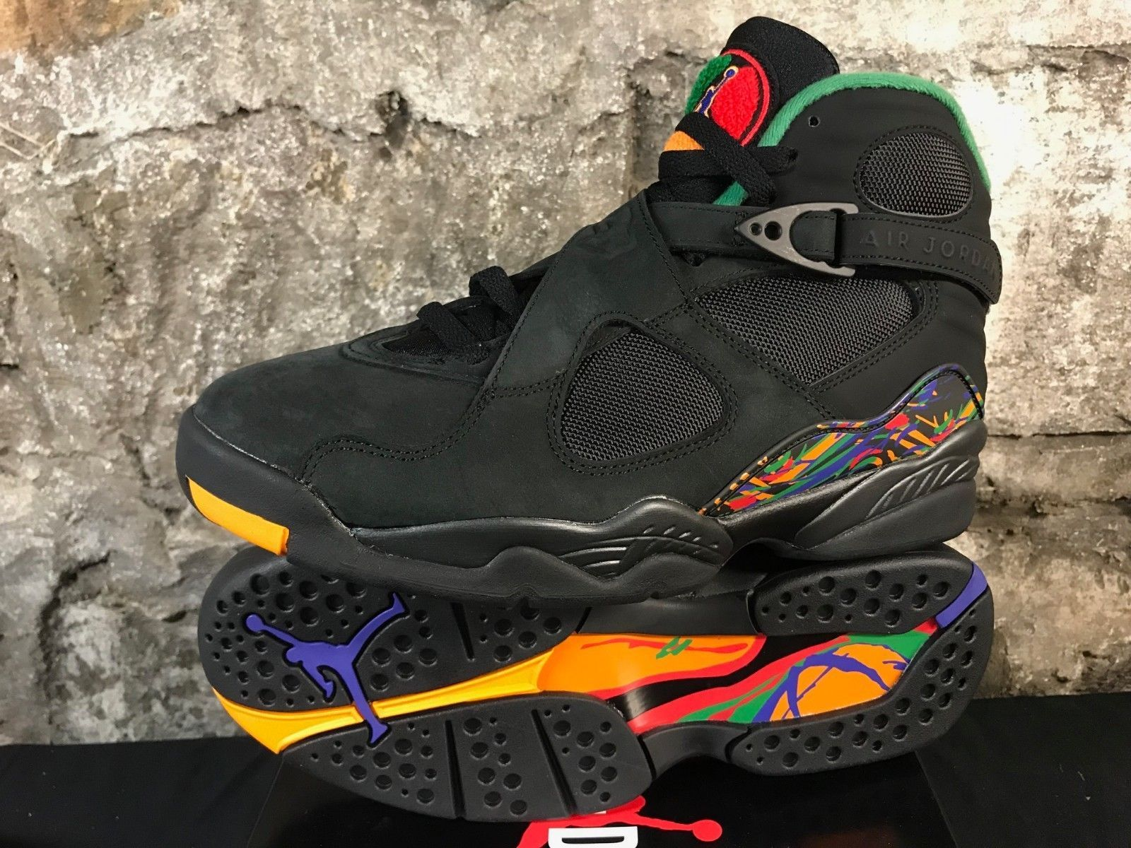 8f282f17baafff AIR JORDAN 8 RETRO 305381 004 TINKER Black Concord Aloe Verde Men s SHIPS  NOW
