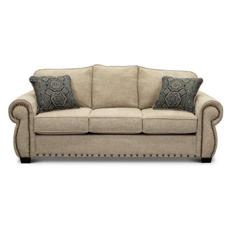 Casual Traditional Canvas Tan Sofa Southport In 2019