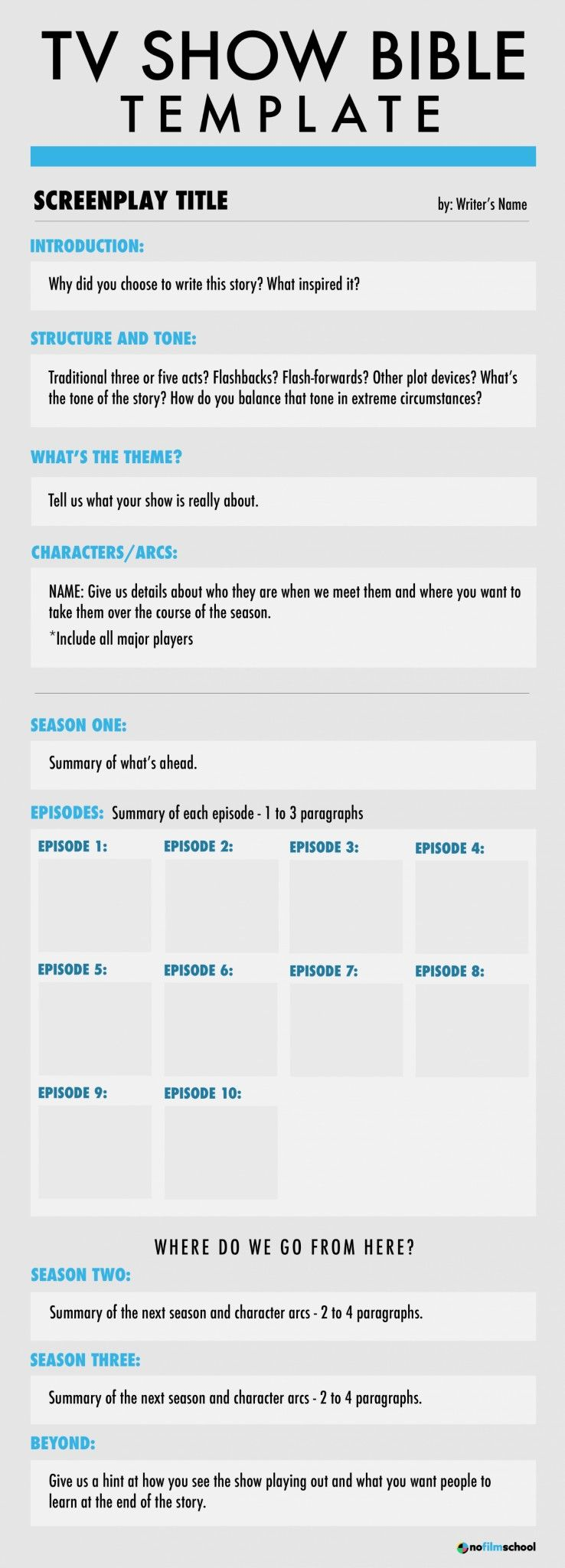 Learn to Write a TV Show Bible With Our Show Bible Template  Tv