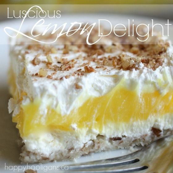 Check Out Luscious Lemon Delight It S So Easy To Make