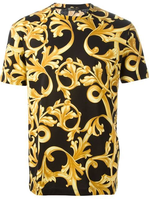 b84b6fd0 Shop Versace baroque T-shirt in Julian Fashion from the world's best  independent boutiques at farfetch.com. Shop 400 boutiques at one address.