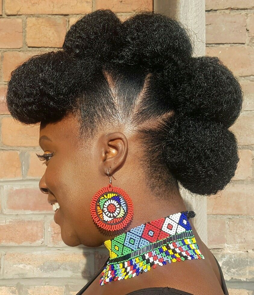 Natural Hair Style 'Burg Caribbean Hair black little