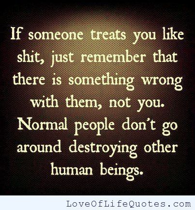 There Is Something Wrong With People Who Treat Others Badly Quotes