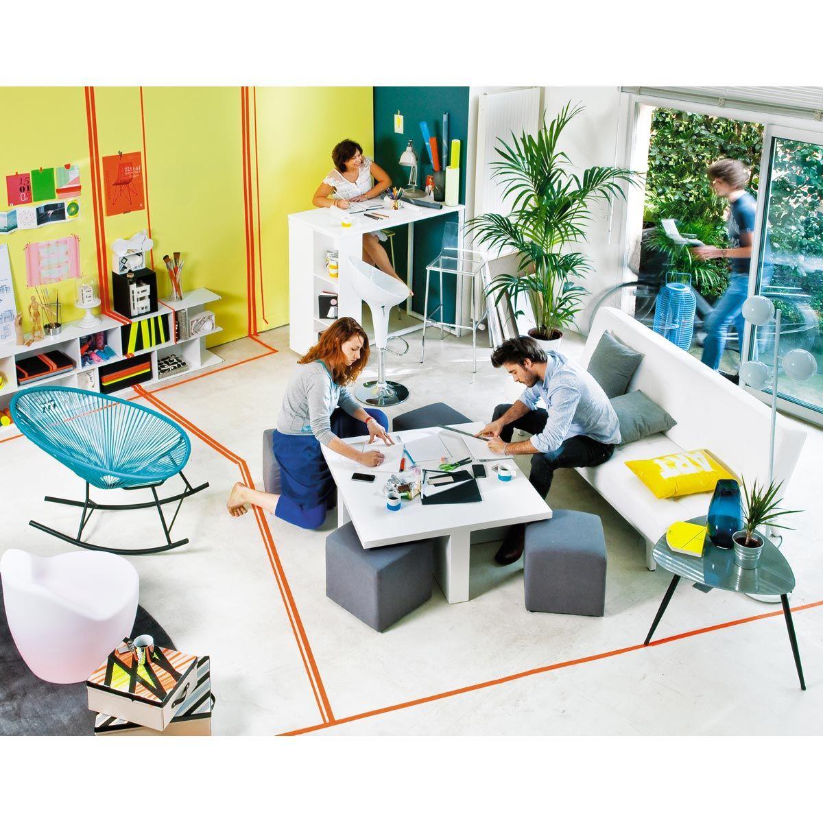 Mesa de comedor alta de madera blanca satinada an 120 cm - Mesa de cocina alta ...