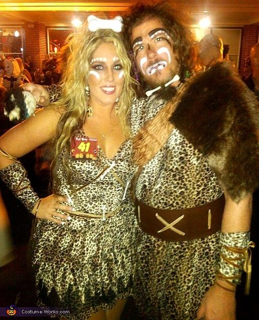Cave Man & Cave Woman Couple Costume | Costume works, Women ...