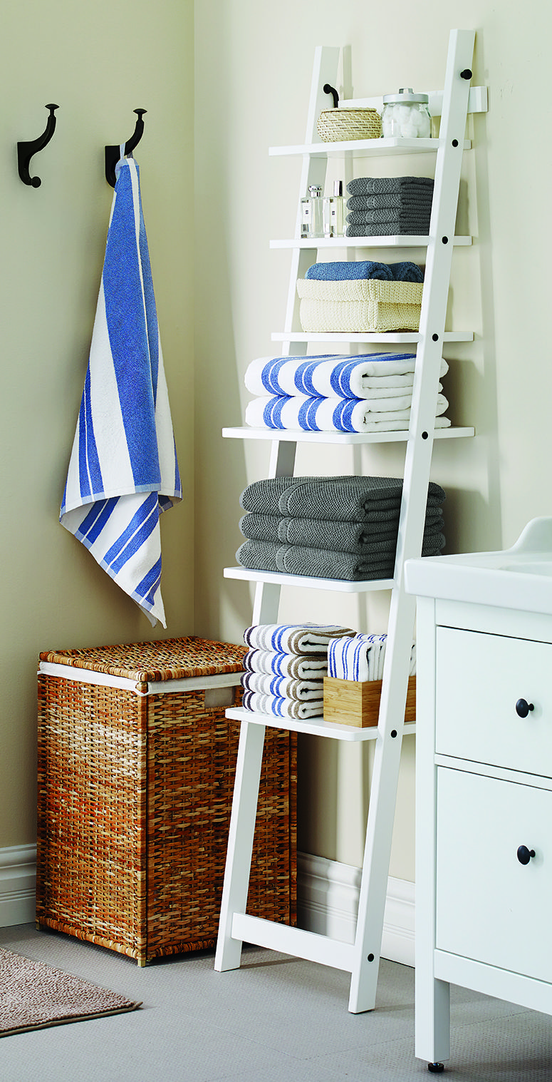 Bring Style U0026 Function To Your Bathroom With An IKEA HJÄLMAREN Ladder Wall  Shelf You Get A Different Look And The Possibility Of Storing Big Thingsu2026