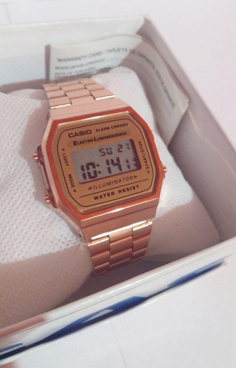 e0b78f086de Reloj Rosa A168 Retro Cobre Vintage Rose Gold Envío Gratis -   399.00 en  Mercado Libre