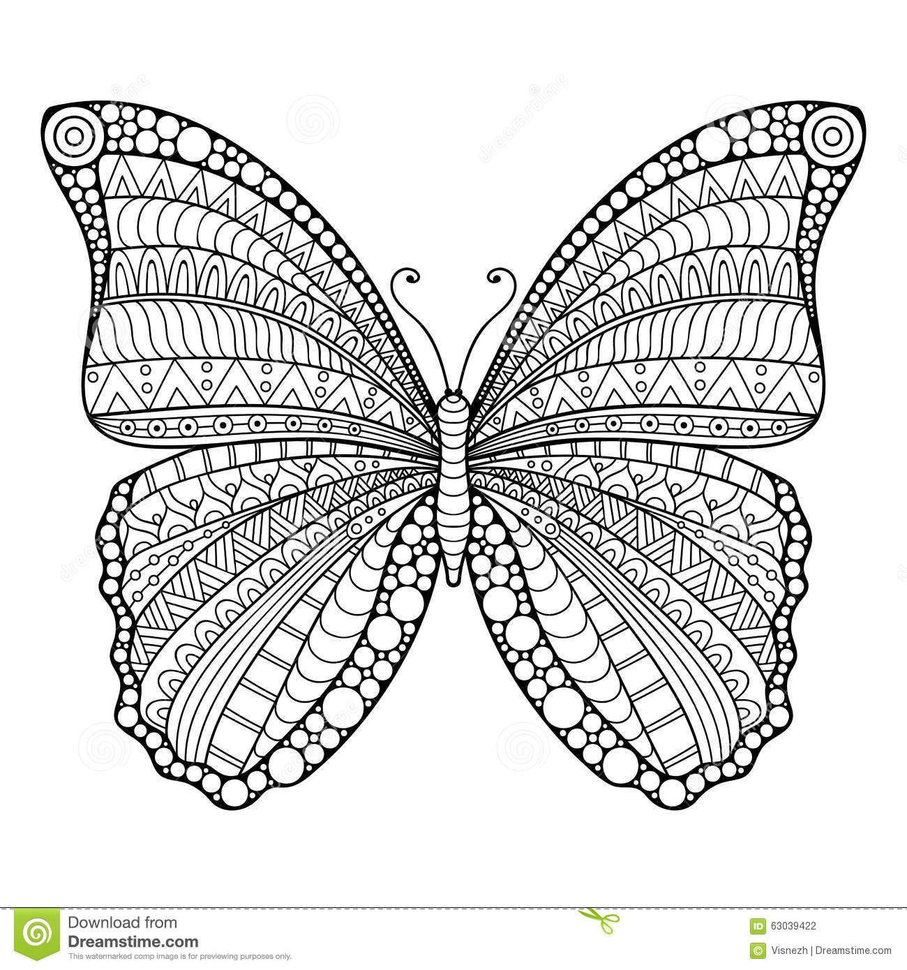 Vector Abstract Butterfly Stock Vector Image 63039422 Butterfly Drawing Butterfly Art Oriental Pattern