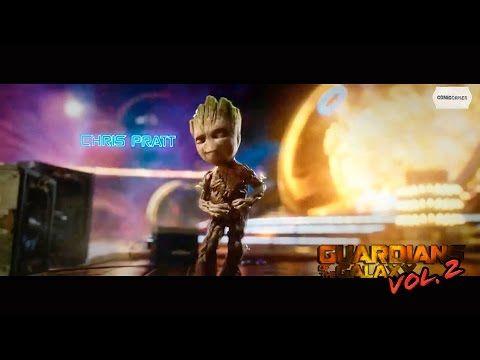 Baby Groot Dancing To Opening Credits - Guardians Of The Galaxy Vol