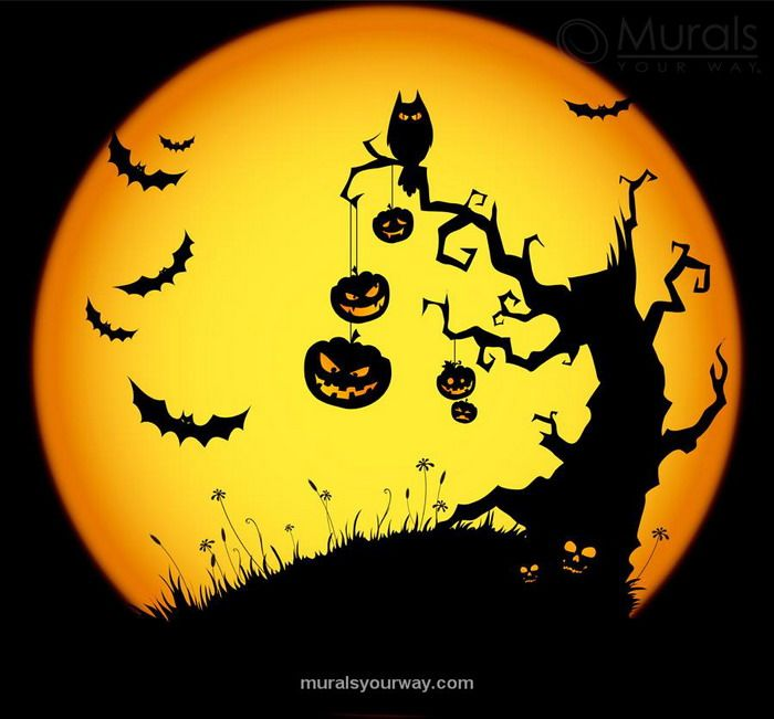 halloween wall scenery Google Search Bulletin Board ideas