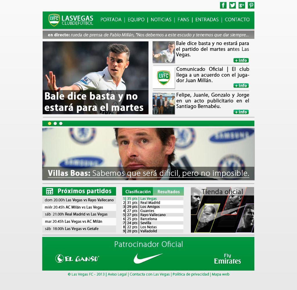 #DesingWeb about Las Vegas F.C.  #Design #Web #Sport #Soccer #Football #News