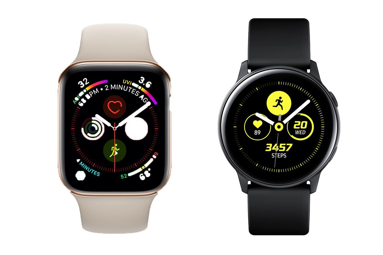 Samsung Galaxy Watch Active Vs Apple Watch Series 4 Rival Wearables Compared Apple Watch Samsung Galaxy Samsung