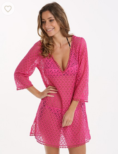 Lepel Summer Days Kaftan - Pink Only £32.00 On simplybeach.com - http://bit.ly/1PlayVG
