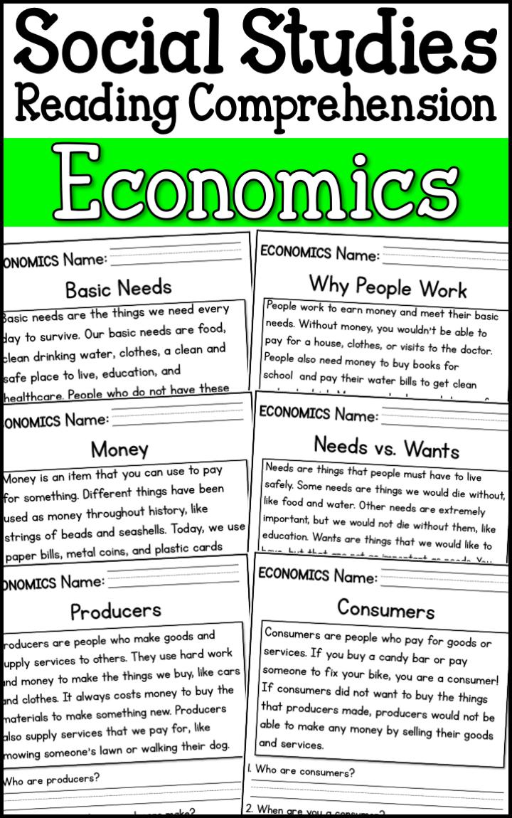Economics Reading Comprehension Passages K 2 Distance Learning Economics Lessons Social Studies Worksheets Homeschool Social Studies [ 1150 x 720 Pixel ]