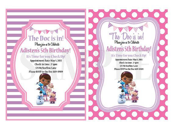 Doc McStuffins Party Printable Invitations By ModernChicTots 1500
