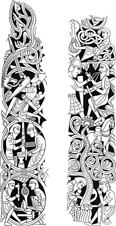 Illumination Or Carving Good Inspiration For Embroidery As Well Ancient Art Tattoo Norse Tattoo Celtic Artwork