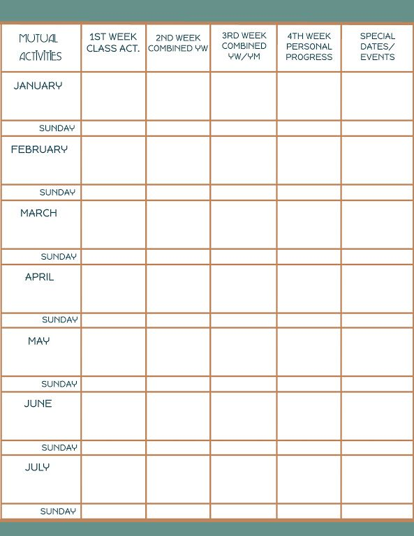 MUTUAL ACTIVITY CALENDARjpg ctr youth leadership Pinterest - activity calendar