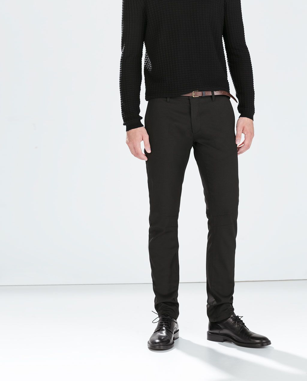 a9f0c01f ZARA - SALE - PLAIN TROUSERS WITH BELT | boyfriend | Trousers, Zara ...