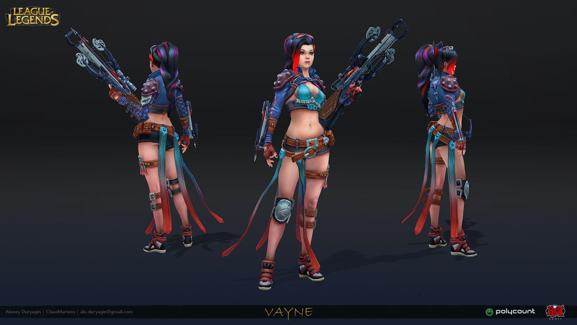 League Of Legends Character Design Contest : Riot art contest vayne polycount forum character