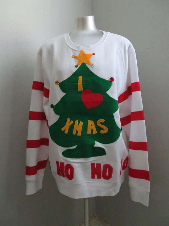 Ugly Christmas Sweater Size Xlarge Grinch Christmas Sweater Lights