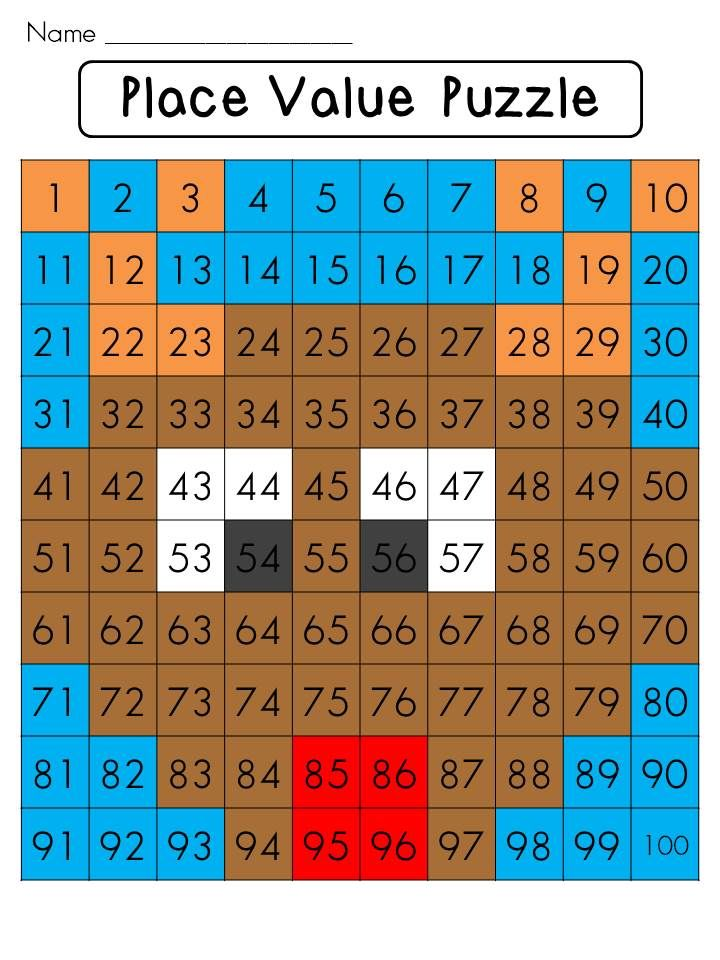Christmas math center place value chart puzzle also hundreds kindergartenklub pinterest rh