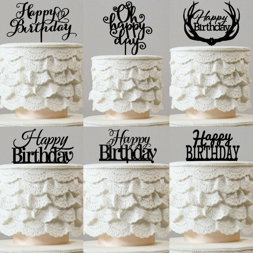 Prime Happy Birthday Cake Toppers Party Supplies Accessories Birthday Cards Printable Giouspongecafe Filternl