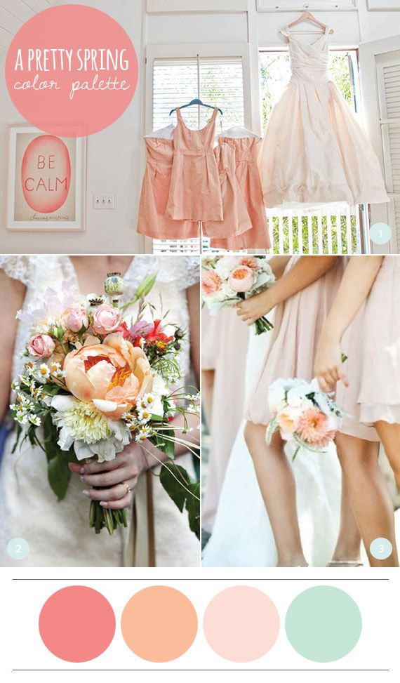 A pretty spring color palette summer wedding colors summer a pretty spring color palette junglespirit Image collections