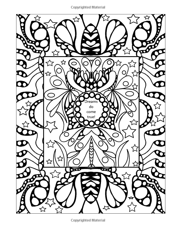 teen coloring book get inspired drawings with encouraging and inspirational quotes bella stitt - Teen Coloring Books