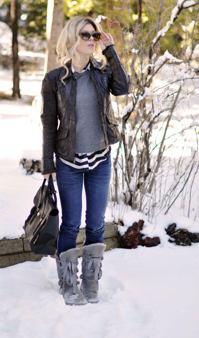vest hat sweater boots jeans | Winter❄ | Pinterest | Snow bunnies ...
