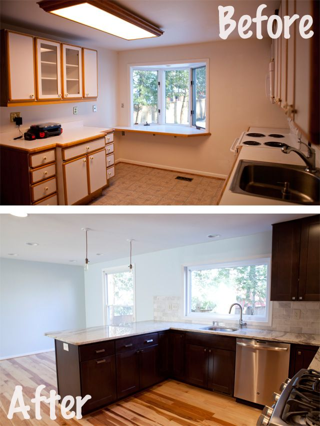 Before And After Small Kitchen: Kitchen Renovation Before And After @wolfbuilding