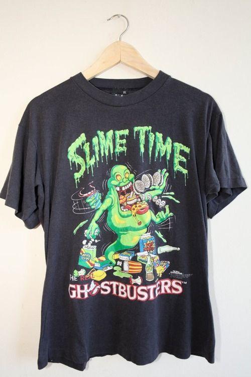 86851b05810 Slime Time - Ghostbusters T-shirt | via Tumblr | Fashion | T shirt ...