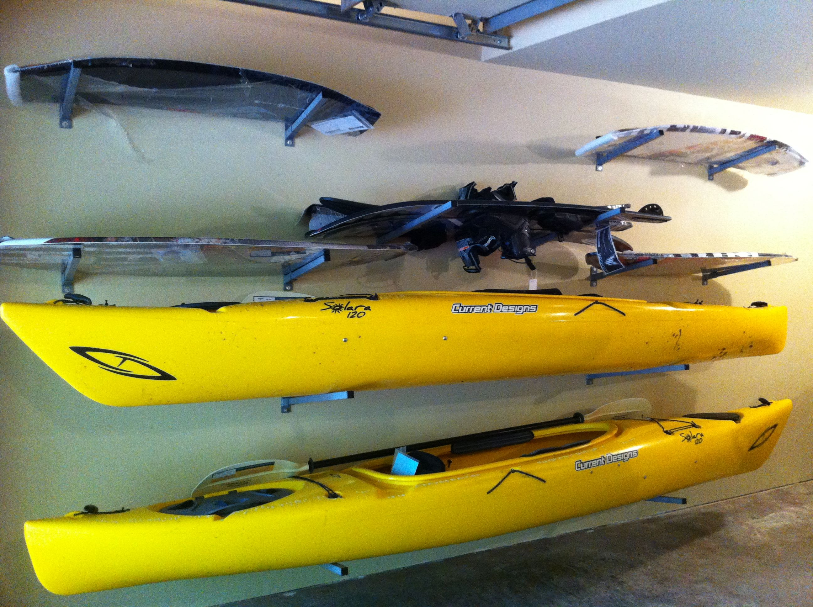Garage Storage for Kayaks | Monkey Bars of North Central ...