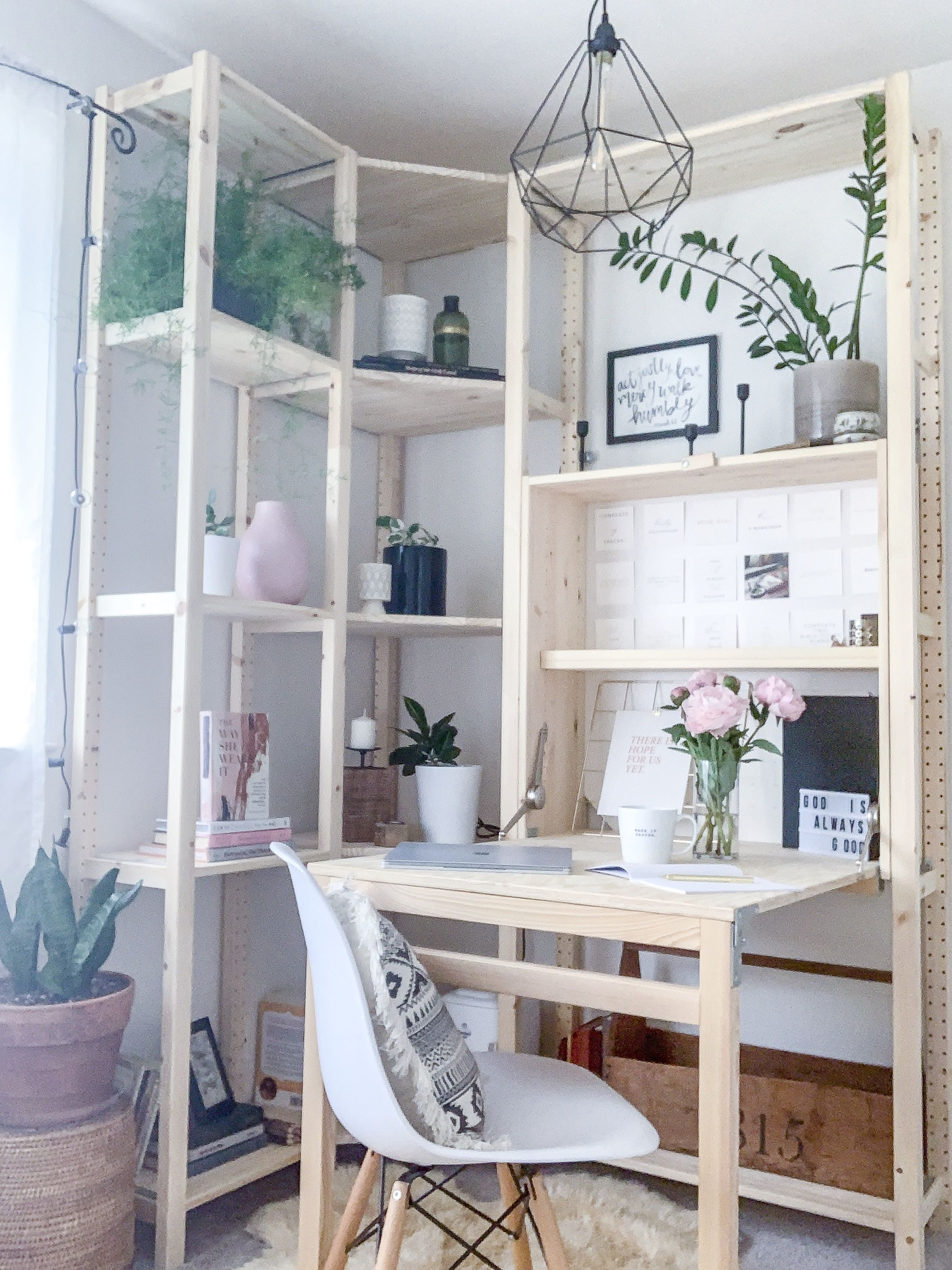 Bedroom Makeover featuring the IKEA IVAR Shelves