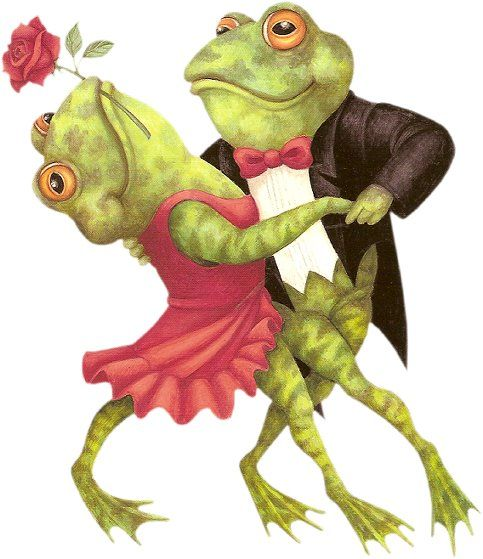 Dancing frogs | Frogs | Frog illustration, Frog pictures