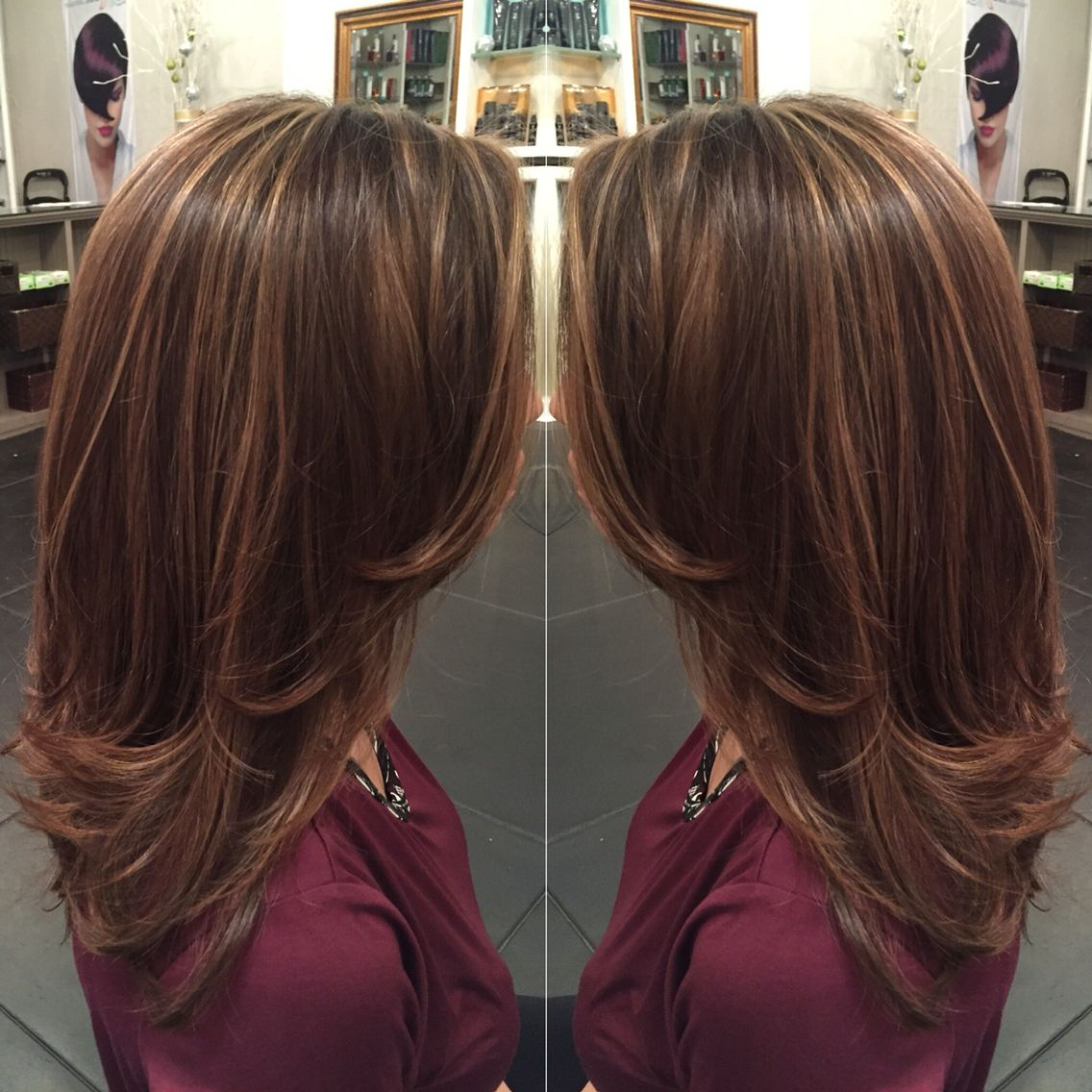 Caramel Highlights On Light Brown Hair And Mid Length Hair