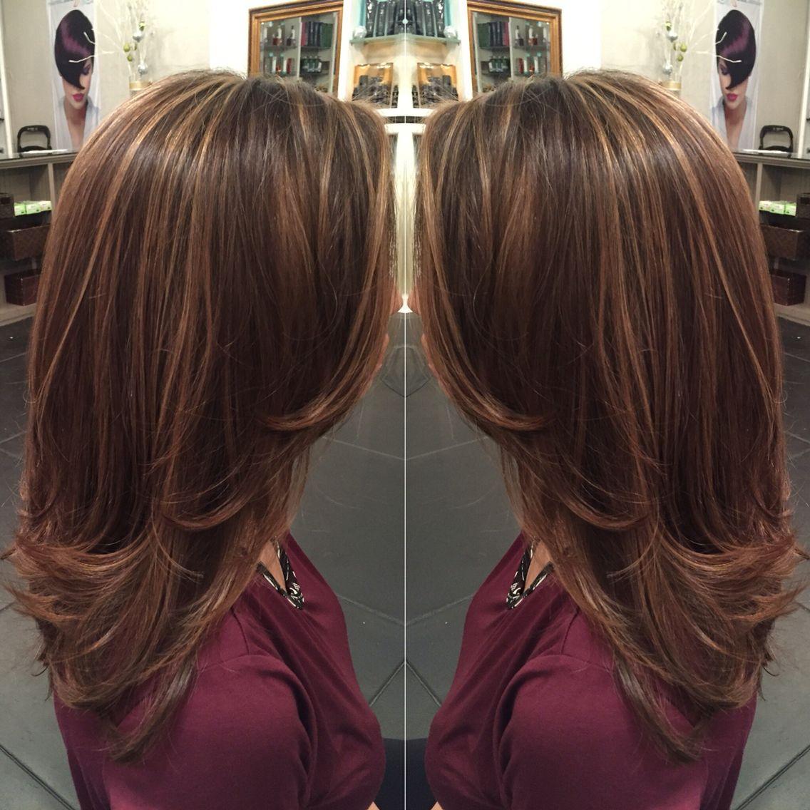 Caramel highlights on light brown hair and mid length hair ...