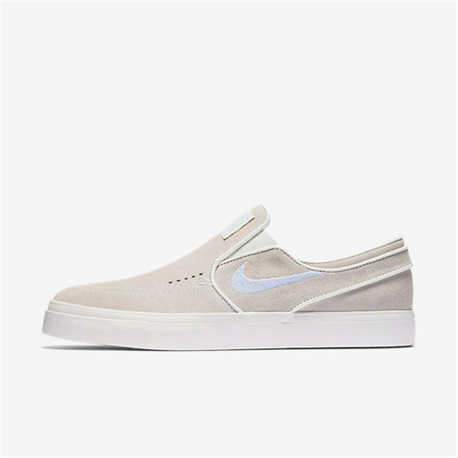 6af218a1eb Nike SB Air Zoom Stefan Janoski Slip-On (Summit White / Ivory / Blue ...
