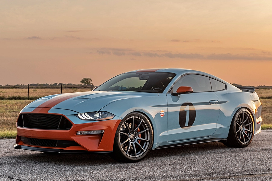 The Gulf Heritage Mustang Recalls Le Mans Victories Ford Mustang
