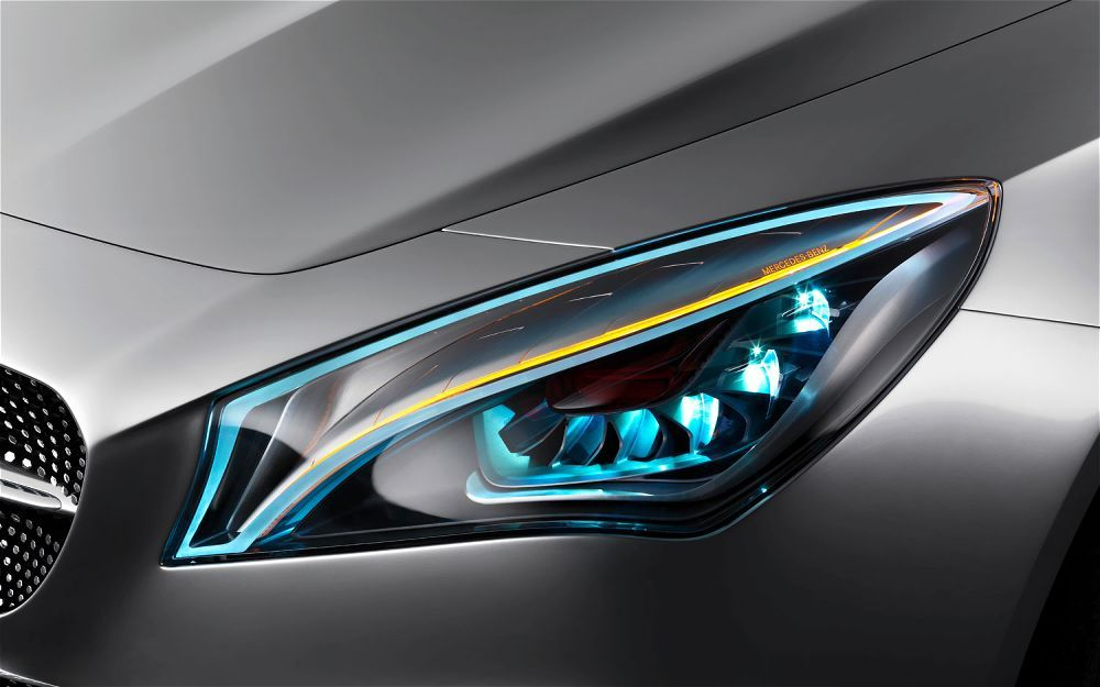 Mercedes Benz Concept Style Coupe Headlight Jpg 1000 625 Mercedes Concept Car Headlights Concept Cars