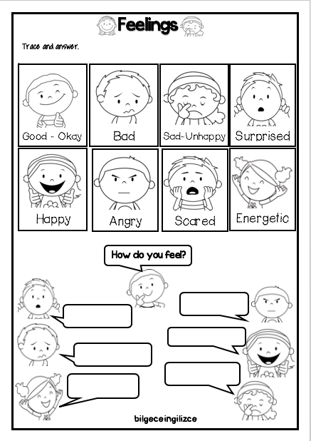 Feelings Emotions Worksheet Bilgeceingilizce English Worksheets For Kids Teaching Emotions Worksheets For Kids - 22+ Social Emotional Emotions Worksheets For Kindergarten Pdf PNG