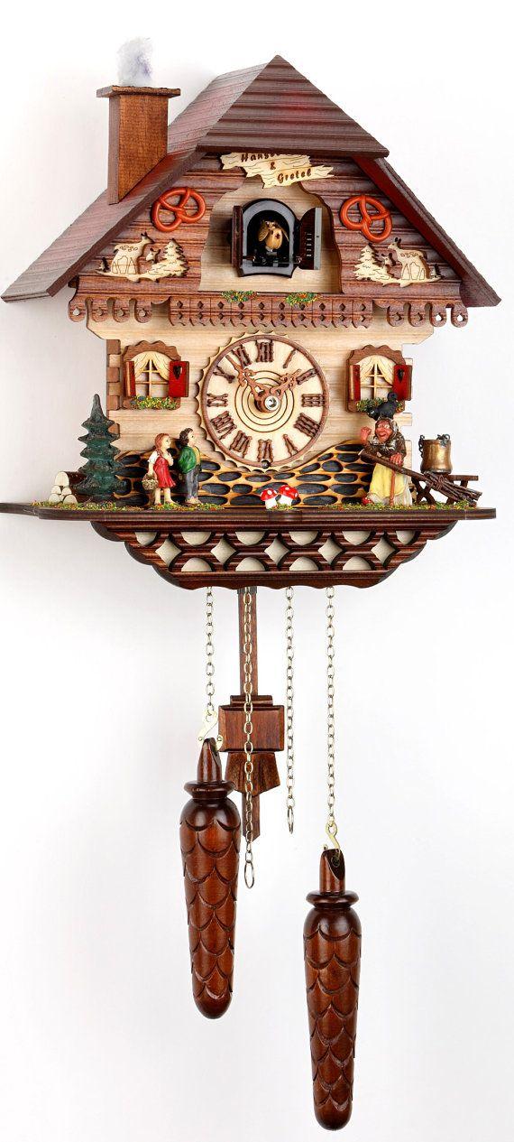 Original Black Forest Cuckoo Clock Hansel And Gretel Witch House Cuckoo Clock Handmade Germany Black Forest Cuckoo Clock Clock Cuckoo