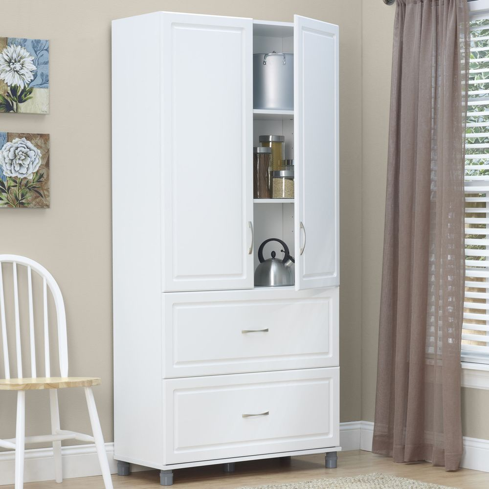 Best Systembuild Kendall White 2 Door 2 Drawer Combination 400 x 300