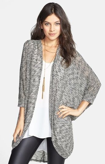 Oversized Sheer Knit Cardigan, Nordstrom | Winter | Pinterest ...