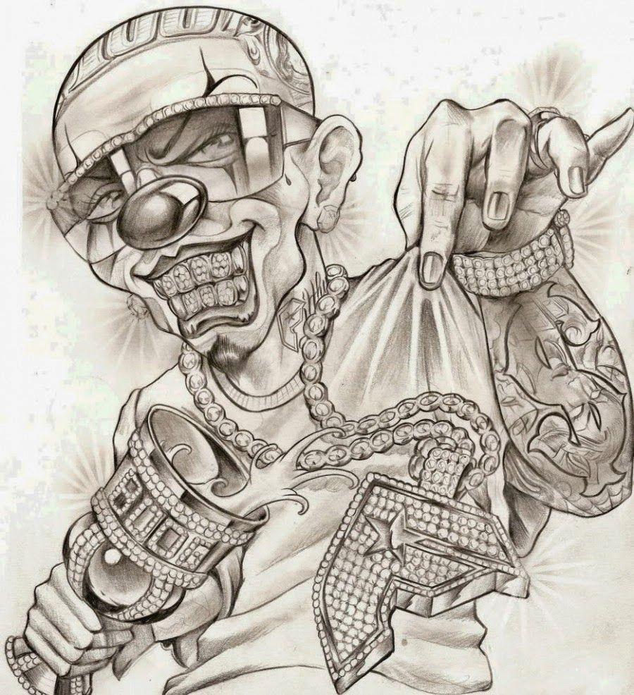 Desenho Palhaço Tatuagem palhaço chicano - pesquisa google | tatuagem de palhaço